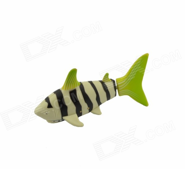 Remote Control Electric Clown Fish Toy - White + Green