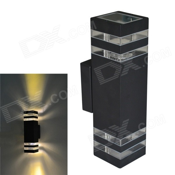 Buy JIAWEN Waterproof Outdoor 8W 320lm 3200K 8-LED Warm White Wall Balcony Lamp - Black (AC 85~265V) with Litecoins with Free Shipping on Gipsybee.com