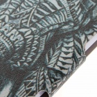Kinston Elephant Pattern PU Leather Flip Open Case w/ Stand for IPHONE 6 PLUS - Grey + White