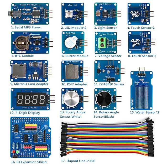 Adafruit Wave Shield for Arduino Kit - Tronixlabs Australia