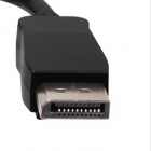 Yellow Knife YK084 Displayport Male to VGA Female Converter Cable - Black + Silver (15cm)