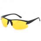 OULAIOU Men's Outdoor Cycling Windproof Insect-proofing PC Lens UV400 Sunglasses - Black + Yellow