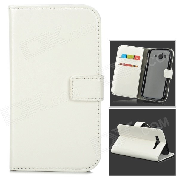 Protective PU Leather Flip-Open Case for Samsung Galaxy Grand Neo / i9060 - WhiteLeather Cases<br>Form  ColorWhiteModelW-9MaterialPU leatherQuantity1 DX.PCM.Model.AttributeModel.UnitShade Of ColorWhiteCompatible ModelsSamsung Galaxy Grand Neo / i9060Other FeaturesProtects the cell phone from dust, shock and scratches.Packing List1 x Case<br>