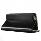 KALAIDENG Protective Genuine Leather Case w/ Stand for IPHONE 6 - Black