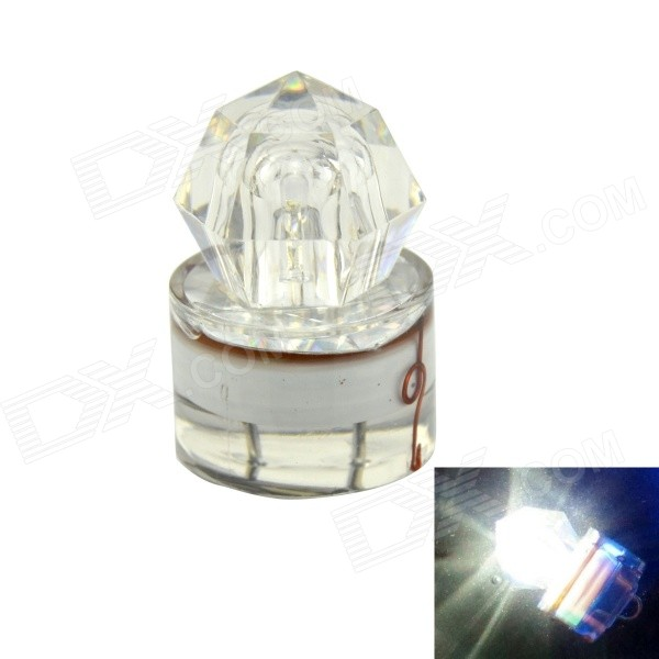 K002 Underwater Fishing Luring LED Attraction Light Lamp - White + Transparent