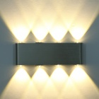 Modern 8W 720lm 2800K 8-LED Up & Down Warm White Spot Light Sconce Lighting Wall Lamp