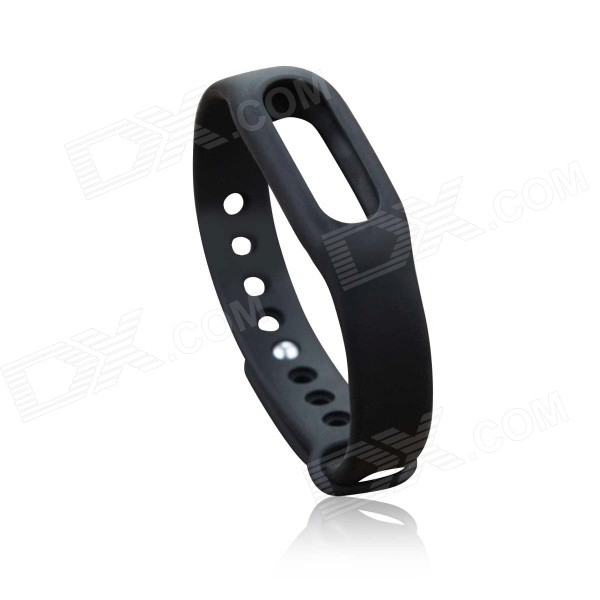 Replacement TPU Wrist Band for Xiaomi Smart Bracelet - Black