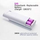 "Soshine E4S 1.0"" LCD 5200mAh Li-ion Power Bank w/ Micro USB Cable for IPHONE + More - White"