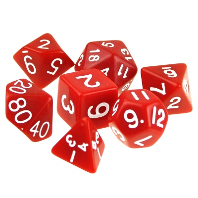 Table Game 15-20mm D4 D6 Dice for Dungeon & Dragon - Red
