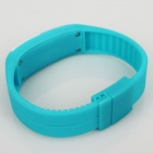 Fashionable Silicone Band LED Digital Bracelet Watch - Ice Blue
