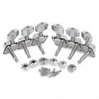 String Knob Tuner for Semi-Closed Folk Acoustic Guitar - Silver (6pcs)