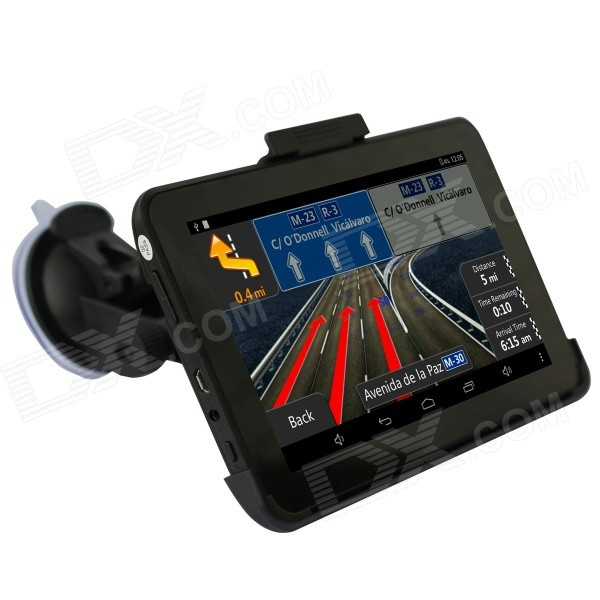 """Q200 7"""" HD Android 4.0 Car GPS Navigator Tablet PC w/ Wi-Fi / FM / 8GB Flash Memory / EU Map - Black"""