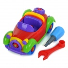 DIY Assembled Educational Vintage Car Toy for Kids / Children - Red + Blue + Multicolor