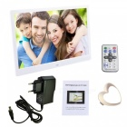 "12"" LED Screen Professional Digital Picture Photo Frame - White"