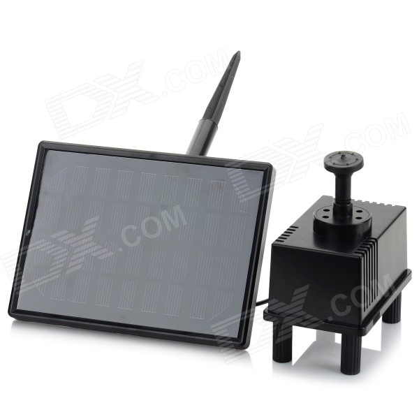 2W-Square-Style-Solar-Powered-Panel-Water-Pump-Black