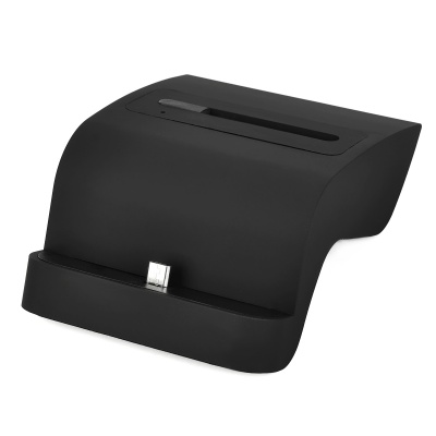 2-in-1 Cell Phone & Battery Charging Dock Stand for Samsung Galaxy Note 4 - Black