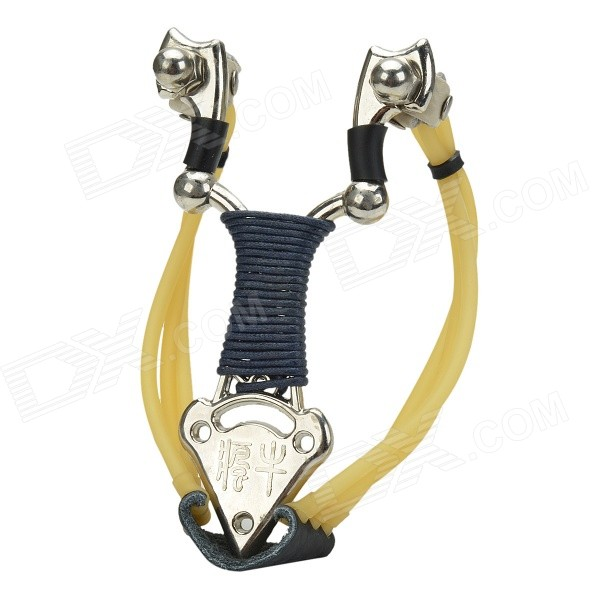 Liezhanbuluo Zinc Alloy Metal Eagle Handle Slingshot w/ Compass - Golden