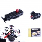 12YB Building Blocks Assembled Remote Control Car Educational Toys - White + Black