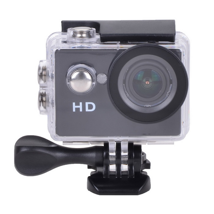"EOSCN A8 Waterproof 5.0MP Sports Camera w/ 2.0"" LTPS LCD - Black"