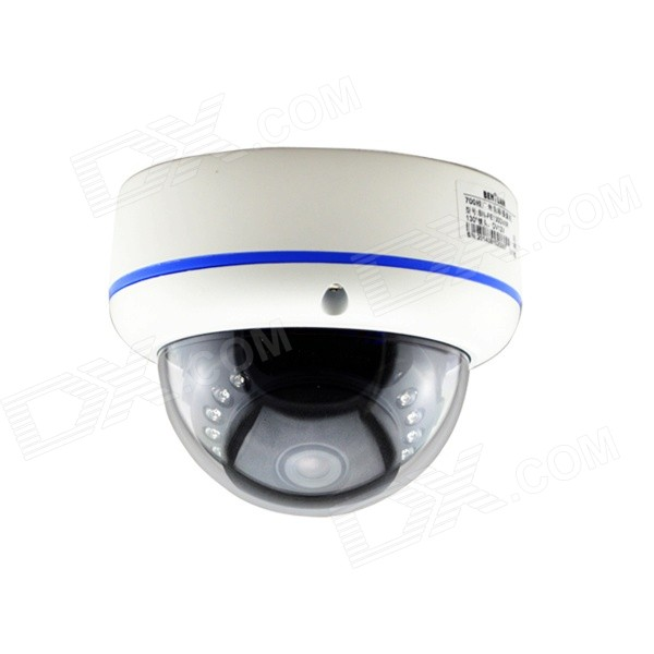 "BN-IP130DVIR 1/3"" CMOS 1,3 130 Degrees Wide Angle IP kamera w / 15-IR-LED / IR-cut - White + modrá"