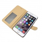 MO.MAT Premium PU Wallet Case w/ Stand/ Card Slot/ Picture Holder for IPHONE 6 Plus - White