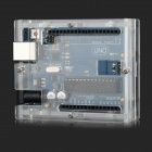 ATMEGA328 UNO R3 Development Board - Blue + Transparent