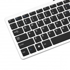 Ergonomic Ultra-Slim USB Wired 78-Key Keyboard - Black