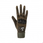 ESDY ESDYXL-2 Outdoor Climbing Cycling Anti-Slip Full-Finger PU Tactical Gloves - Army Green (XL)