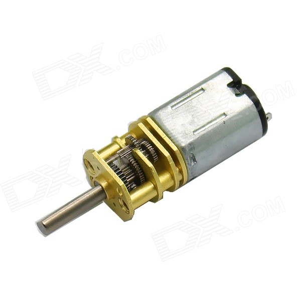 M10 DC4.5V 90RPM Metal Teeth Large Torque Gear Motor - Yellow + Silver