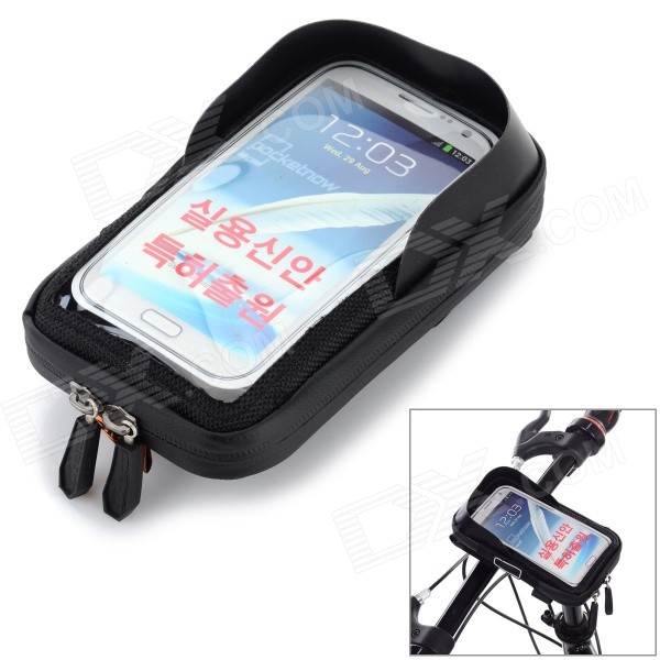 CBR Bike Handlebar Mounted Touch Screen Phone Pouch Case Bag w/ Glare Shield