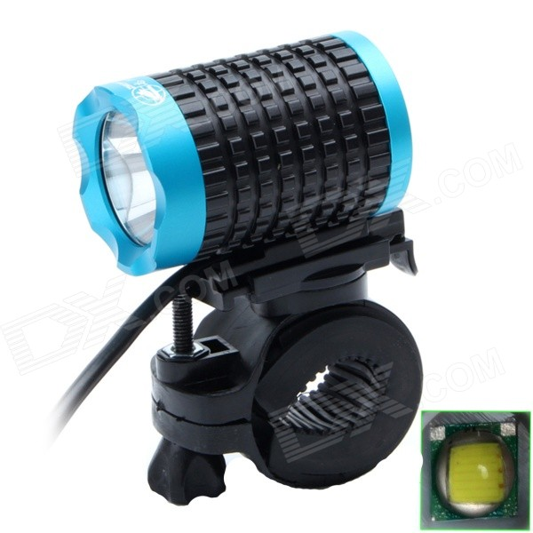 ZHISHUNJIA Lr-360K1E-1b 810lm 6-Mode White LED Bicycle Lamp w/ Bike Mount - Black + Blue (4 x 18650)Bike Lights<br>Form  ColorBlack + BlueModelLr-360K1E-1bQuantity1 DX.PCM.Model.AttributeModel.UnitMaterialAluminium alloyEmitter BrandOthers,N/ALED TypeXM-LEmitter BINT6Number of Emitters1Color BINNeutral WhiteWorking Voltage   3.7-8.4 DX.PCM.Model.AttributeModel.UnitPower Supply3.7v-8.4v power supplyCurrent2.5 DX.PCM.Model.AttributeModel.UnitTheoretical Lumens900 DX.PCM.Model.AttributeModel.UnitActual Lumens810 DX.PCM.Model.AttributeModel.UnitRuntime4 DX.PCM.Model.AttributeModel.UnitNumber of Modes6Mode ArrangementHi,Mid,Low,Slow Strobe,Fast Strobe,SOSMode MemoryNoSwitch TypeForward clickyLensGlassReflectorAluminum SmoothFlashlight MountingHandlebar and HelmetSwitch LocationTailcapBeam Range300 DX.PCM.Model.AttributeModel.UnitBike Lamp Interface Size3.5MM+USBBattery Pack Interface Size3.5MMPacking List1 x Bike lamp (90cm cable)2 x Gaskets1 x 4400mAh battery pack (4 x 18650, 37cm wire)1 x Charger (100~240V, 90cm, EU plug)<br>