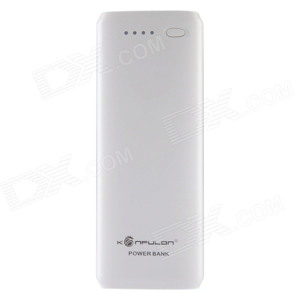 Konfulon Y1308 Universal 13200mAh 5V Li-ion Battery Mobile Power Bank - White