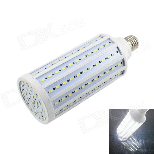 KINFIRE E27 40W LED Bluish White Light Corn Bulb - White (AC 220V)E27<br>Form  ColorWhiteColor BINBluish WhiteModelY-40WMaterialPCQuantity1 DX.PCM.Model.AttributeModel.UnitPowerOthers,40WRated VoltageAC 220 DX.PCM.Model.AttributeModel.UnitConnector TypeE27Chip BrandEpistarChip TypeLEDEmitter TypeOthers,5730 SMD LEDTotal Emitters165Theoretical Lumens3500 DX.PCM.Model.AttributeModel.UnitActual Lumens3200 DX.PCM.Model.AttributeModel.UnitColor Temperature7000KDimmableNoBeam Angle180 DX.PCM.Model.AttributeModel.UnitWavelengthN/APacking List1 x Lamp<br>