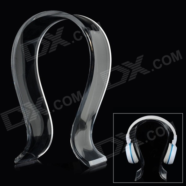 U-Shaped Acrylic Headphone / Headset Hanger Holder Stand - Translucent White