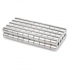 10 x 10mm Cylindrical NdFeB N35 Magnet - Silver (100PCS)