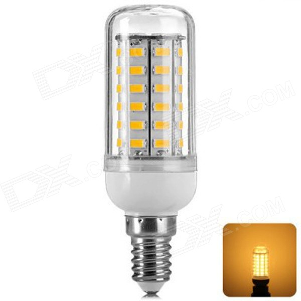 Buy E14 6W 800LM 3000K 56x5730 SMD Warm White LED Corn Bulb (AC 220-240V) with Litecoins with Free Shipping on Gipsybee.com