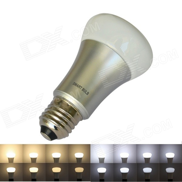 Buy JIAWEN 7W E27 650lm White + Warm White 8-mode Dimmable Smart Bulb with Litecoins with Free Shipping on Gipsybee.com
