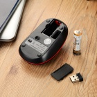 Motospeed G11 2.4GHz Wireless USB 2.0 LED Optical Mouse - Black + Red