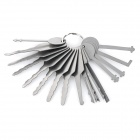 B228 Steel Car Door Lock Pick Tool Set - Silver (16 pcs)