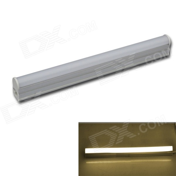 JIAWEN T5 4W 300lm 30-SMD 3014 Warm White /White   Fluorescent Tube Light(28cm)---White+Silver