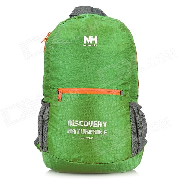NatureHike Sports Polyester + Nylon Foldable Backpack - Grass GreenForm ColorGrass GreenModelN/AQuantity1 DX.PCM.Model.AttributeModel.UnitMaterial5% Polyester + 95% nylonBest UseRunning,Climbing,Mountaineering,Travel,CyclingGear Capacity15 DX.PCM.Model.AttributeModel.UnitRaincover includedNoTypeOthers,Foldable backpackBrandNatureHikeTypeHiking &amp; CampingCapacity Range0L~20LPacking List1 x Backpack<br>