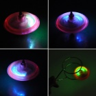 Magnetic Spinning Top Toy w/ LED Light Effect for Kids - Pink + Silver
