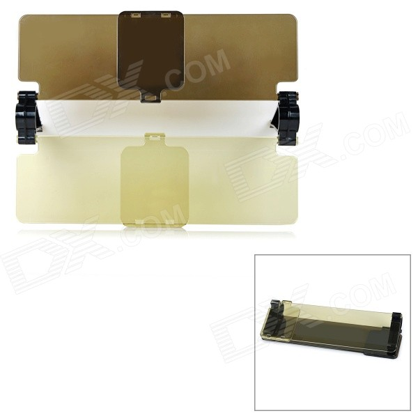 DIY Clip-on Daytime + Night Sun Shield for Car - Yellow + BrownOther Interior<br>Form ColorYellow + BrownModelN/AQuantity1 DX.PCM.Model.AttributeModel.UnitMaterialPCPacking List1 x Sun shield<br>