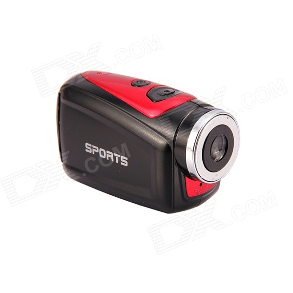 Buy F22 720P 1.3MP HD Waterproof Sport Camera Camcorder - Black + Red with Litecoins with Free Shipping on Gipsybee.com