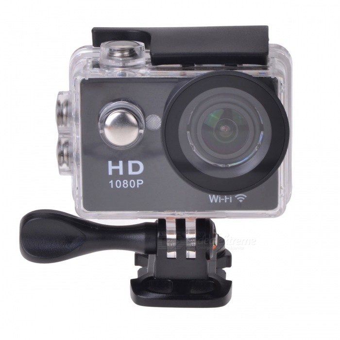"EOSCN W9 HD 1080P Waterproof 2/3"" CMOS 12MP Sports Camera - Black"