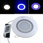ZHISHUNJIA-20W-1350lm-30-5630-18-2835-Blue-Dimmable-Round-Panel-Light
