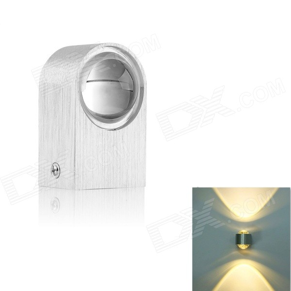 Modern 2W 180lm High Power 2-LED Up / Down Warm White Wall Lamp