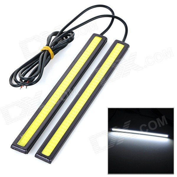Buy JRLED 6W 200LM COB Cold White Waterproof Car Running Light Bar (2PCS) with Litecoins with Free Shipping on Gipsybee.com