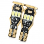 T10 2W 160lm 9-SMD 5730 Cool White Car Lamps - Antique Brass (2PCS)