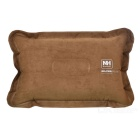 Naturehike-NH Outdoor Travel Inflatable Suede Pillow - Brown